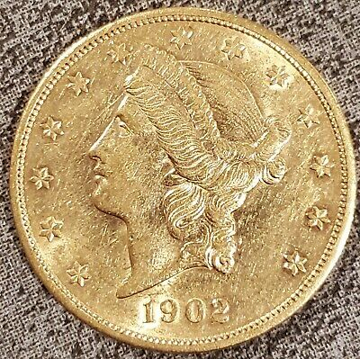 1902-S $20 Liberty Head Double Eagle Gold Coin Liberty Head Double Eagle