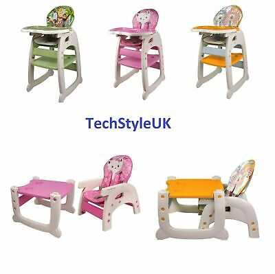 UK S BEST 3 in1 Baby High Chair Portable Toddler Table Convertible Feeding