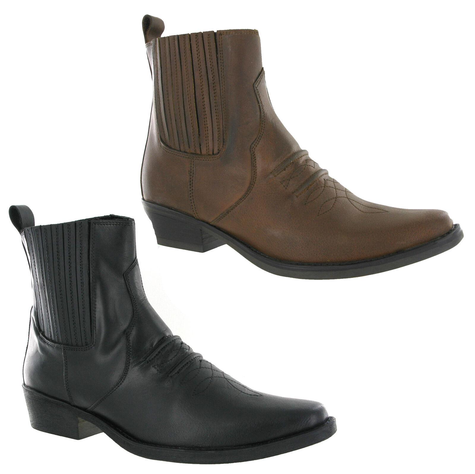 7ece08efa513 Gringos Zwickel Cowboy Western Herren Leder Stiefeletten UK6-12   eBay