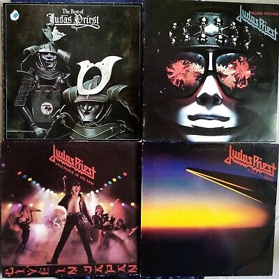 JUDAS PRIEST KILLING MACHINE UNLEASHED IN EAST POINT OF ENTRY BEST 4 x VYNIL