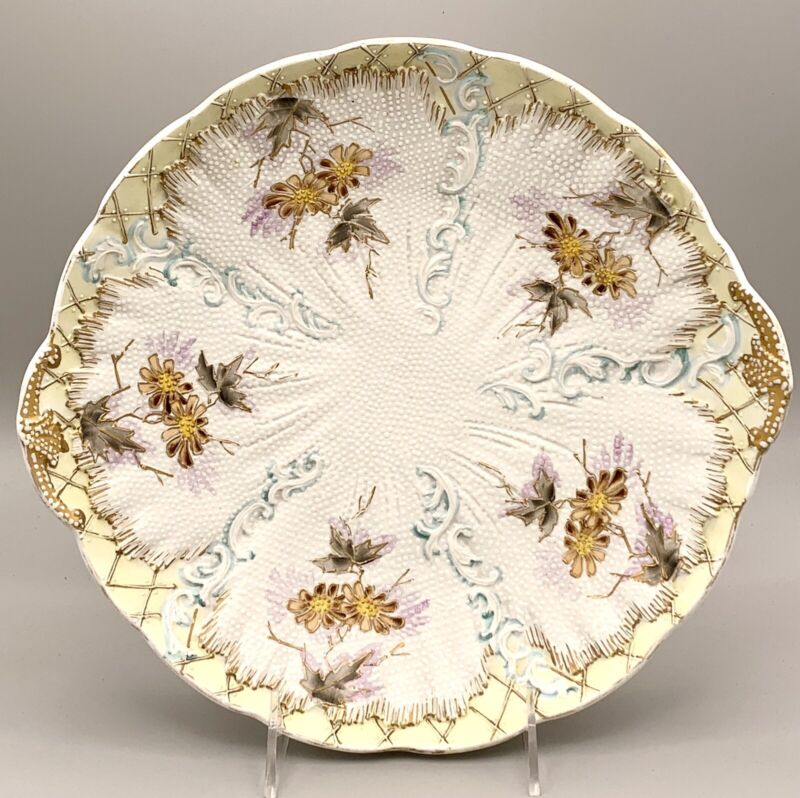 Lovely Early RS Prussia Moriage Footed Bowl