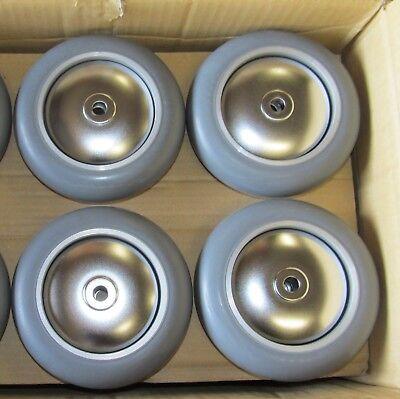 Catis Shepherd 6 150mm Medical Caster Wheel Aluminum Alloy Rubber Tire Lot Of 4