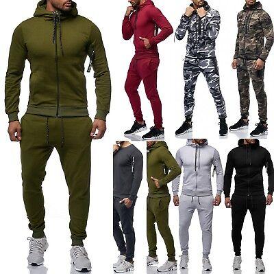 Herren Camouflage Jogginganzug Jogging Hose Jacke Sportanzug  Anzug Hoodie Zip  Zip-hoodie Hose