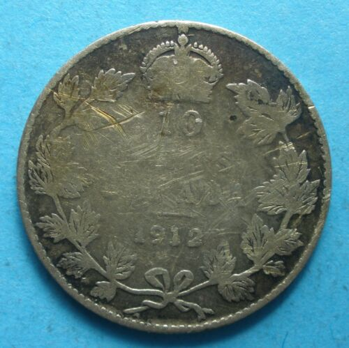 1912 George Canada Dime   nice coin