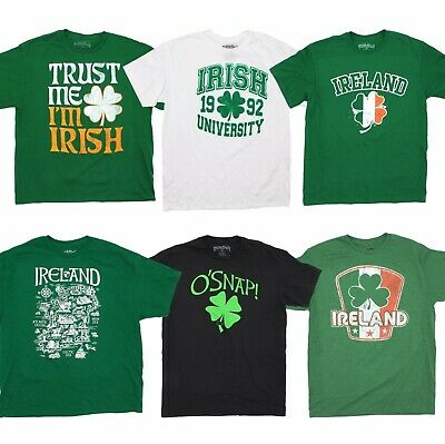St. Patrick's Day Irish T-Shirt for Men Party Ireland Shamrock Tee Fifth -