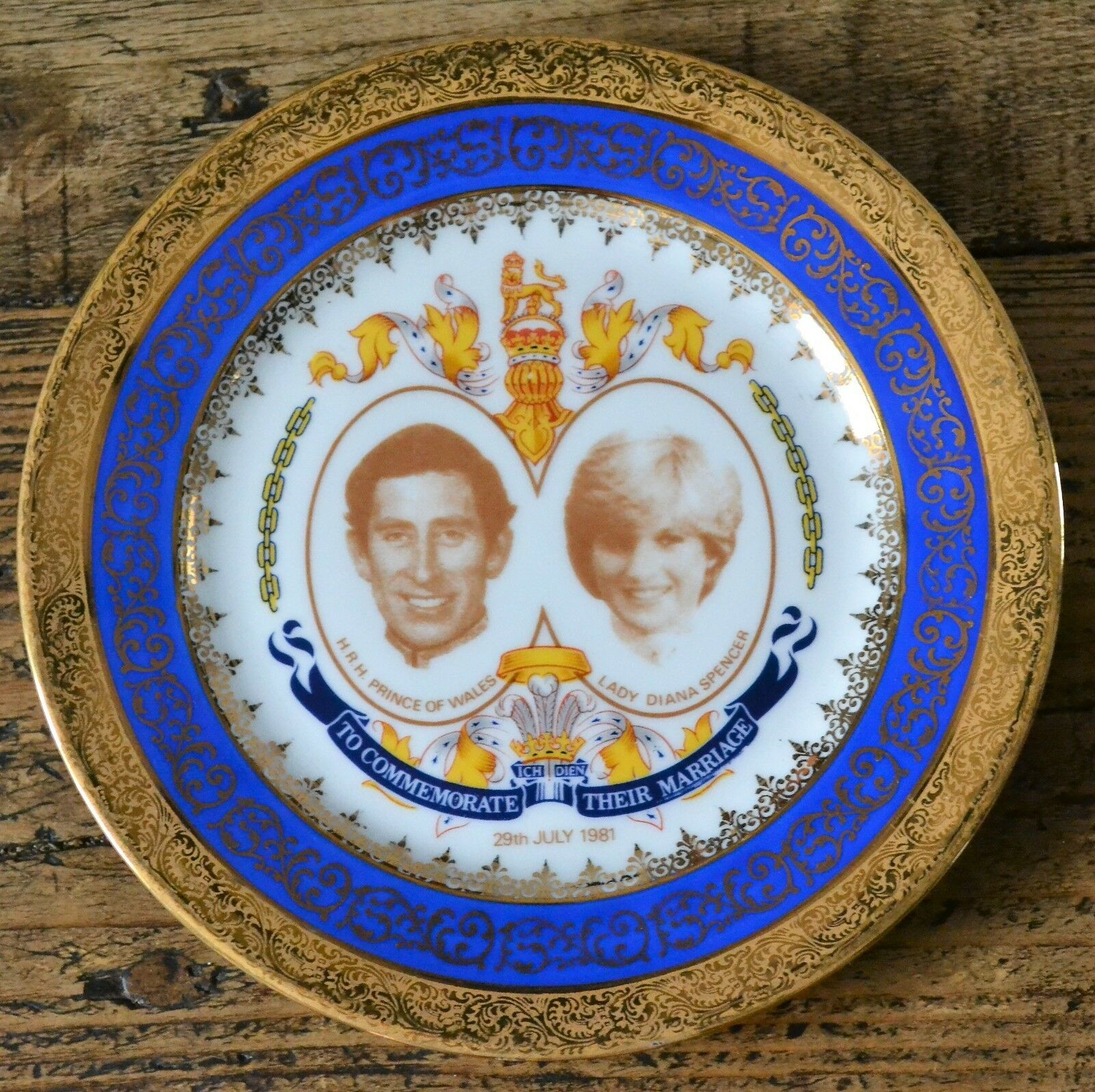 Rare Ltd Ed 190/300 Limoges Royal Wedding Prince Charles Lady Diana Plate 16cm