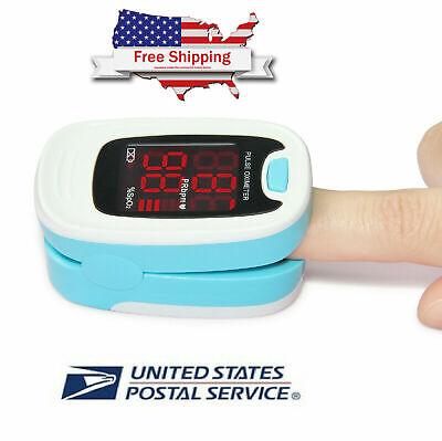 Finger Pulse Oximeter Blood Oxygen Sensor O2 Spo2 Monitor Heart Rate Fda Aproved