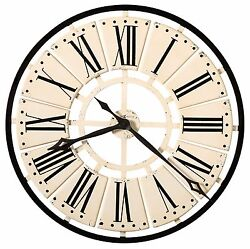 HOWARD MILLER -625-546PIERRE OVERSIZED IRON WALL CLOCK -31.5 DIAMETER