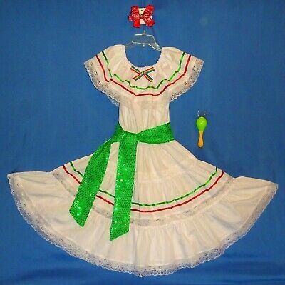 Mexican dress girls-10-12-Cinco de Mayo costume fiesta-hair - Cinco De Mayo Girl Kostüme