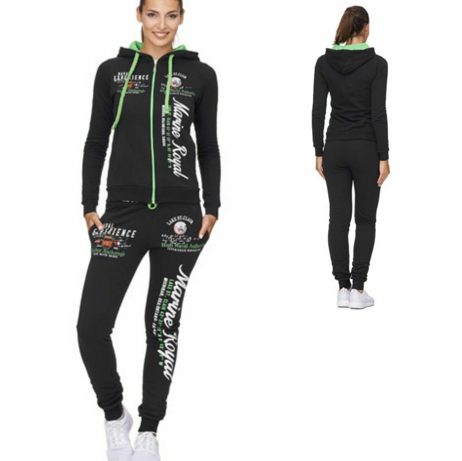 Damen Jogginganzug Jogging Hose Jacke Sportanzug Fitness training 689