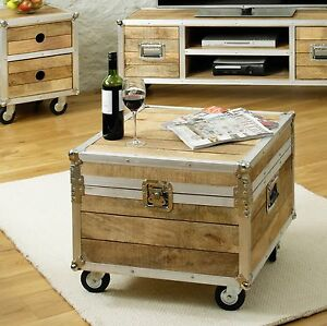 Calgary Chic Reclaimed Wood Furniture Living Room Coffee Table Trunk Ebay