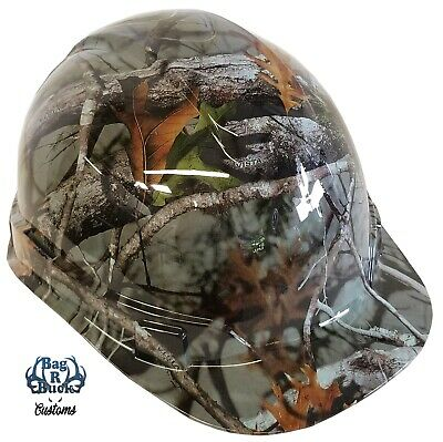 Custom Hydro Dipped Hard Hat Light Grey Camo Vista 6 Point Harness