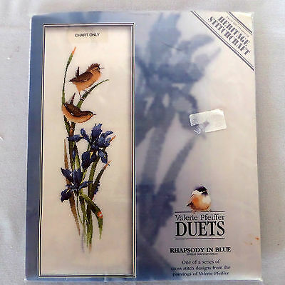 Valerie Pfeiffer Duets Rhapsody in Blue Cross Stitch Chart Design for sale  Barrie