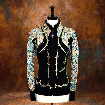 SMALL  Showmanship Pleasure Horsemanship Show Jacket Shirt Rodeo Queen Rail