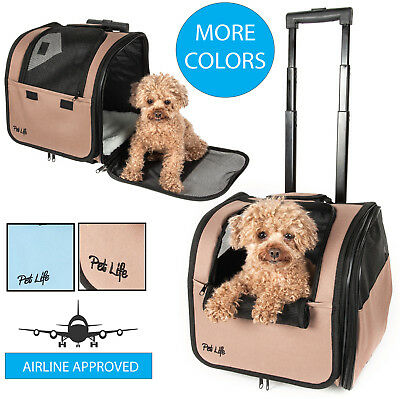 Pet Life Wheeled Travel Pet Dog or Cat Carrier ()