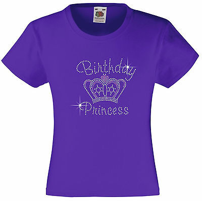 n, Tiara Strass / verziert T-Shirt Geschenkidee für Mädchen (Geburtstag-prinzessin-tiara)