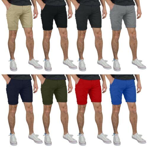 Gantshill Mens Flat Front Chino Shorts 100% Cotton Half Pants