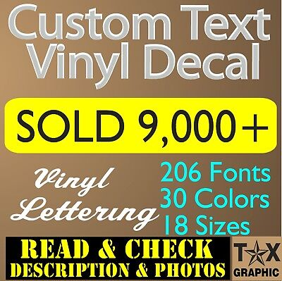 (Custom Vinyl Lettering Decal Personalized Sticker  Window Text  Name Car wall  )