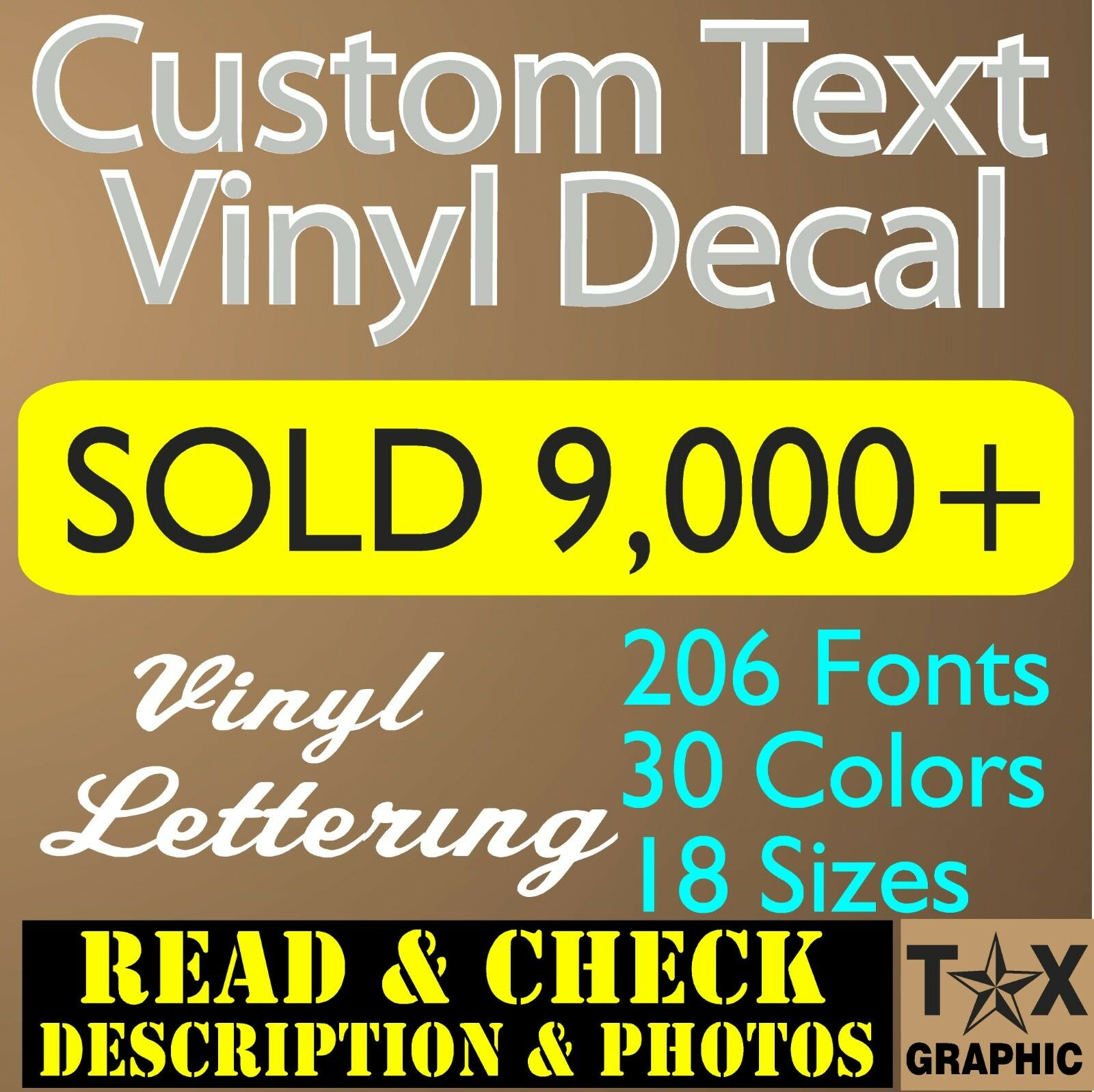 Home Decoration - Custom Vinyl Lettering Decal Personalized Sticker  Window Text  Name Car wall