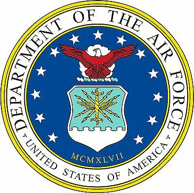 - Dept of the Air Force seal USAF Decals Vinyl Stickers Military Emblem Decals