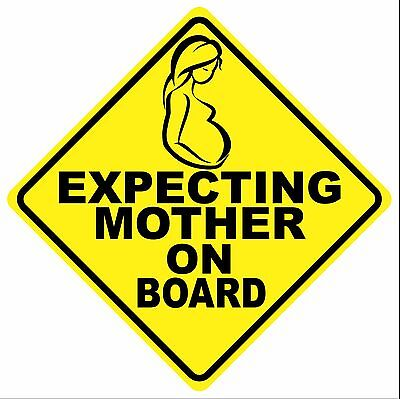 EXPECTING MOTHER ON BOARD DECAL MAGNET - FREE SHIPPING!!