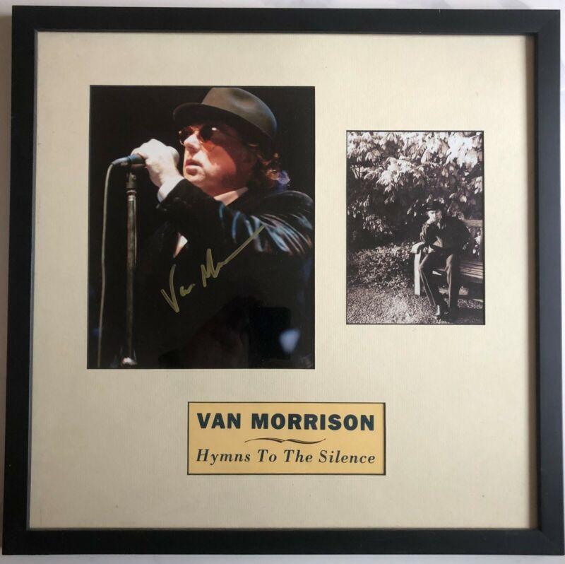 Van Morrison Framed Picture Autographed