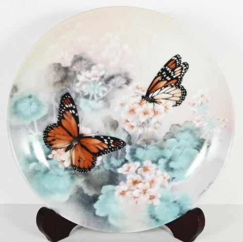 "8"" NIB 1988 Monarch Butterflies Porcelain Plate Home Decor Lena Liu Home Decor"