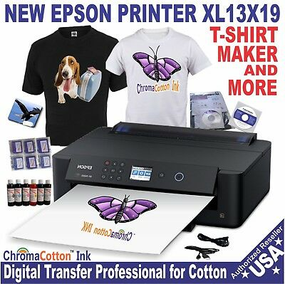 NEW EPSON PRINTER XL T-SHIRT MAKER PRINT COTTON INK START  KIT COMPLETE Bundled
