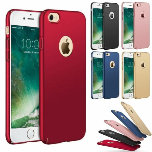Ultra Thin Slim Hard Case Cover For IPhone 6 6S 7 8/ Plus Tempered Glass - $5.31