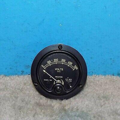 Weston Model 506 Volts Panel Meter 0-500v 2.75 Free Shipping