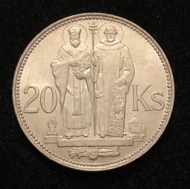 Slovakia 1941 20 Korun Silver Coin BRILLIANT UNC