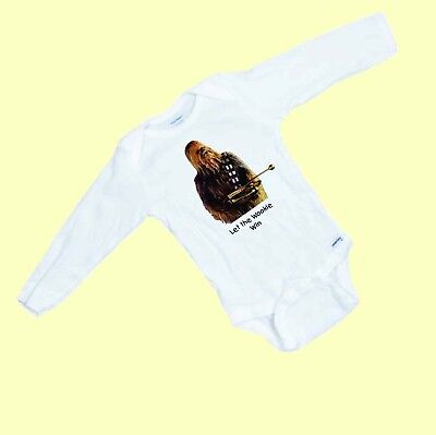 Star Wars Chewbacca Let the Wookie Win  Funny  LONG SLEEVE Baby Romper / Onesie  (Chewbacca Onesies)
