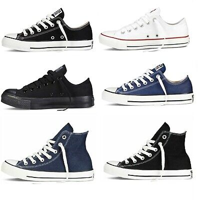 Mens Womens Converse Chuck Taylor All Star Low Ox High Top Trainers Canvas Pumps