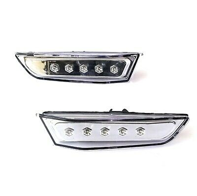 - FITS 2003-2007 INFINITI G35 COUPE 2DR SIDE MARKER LIGHT LED CHROME HOUSING