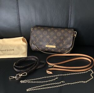 Authentic Louis Vuitton Favorite MM in Monogram With Freebies