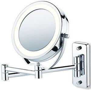 espejo de pared para maquillaje extensible con luz y
