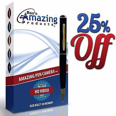 25% OFF! Amazing Pen Camera Upgraded to Digital HD 720p Spy Pen Camera