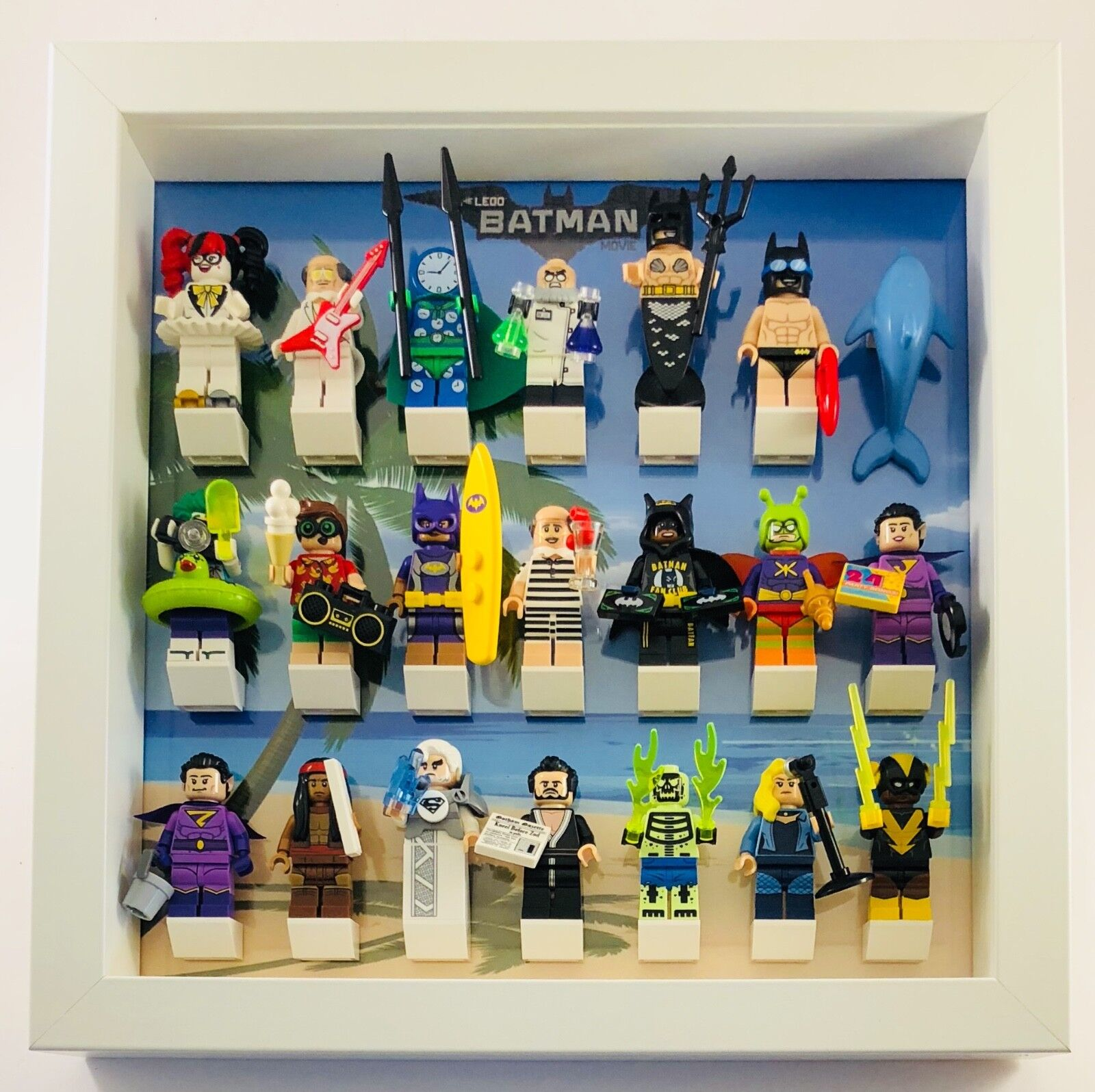 Lego Minifigure Display Case Frame for Lego Simpsons Series 1 Minifigs