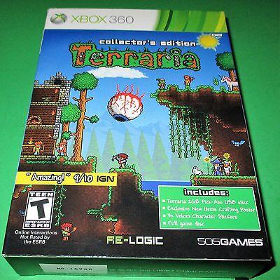 Terraria -- Collector's Edition Xbox 360 (Box Slight Wear)  *New!  *Free Ship!