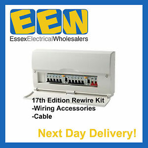 house rewire kit 17th edition (consumer unit, cable ... house wiring diagram 17th edition