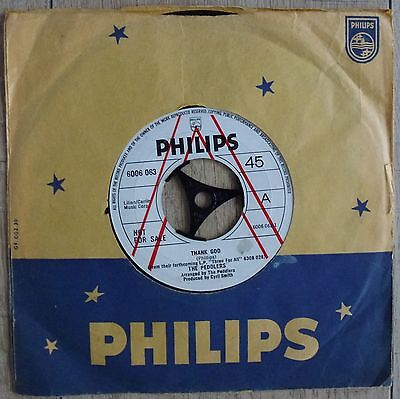 """The Peddlers - Thank God - Demo 7"""" Single 1970 Philips 6006063 Ex- Condition"""
