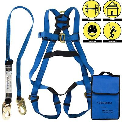Single D-ring Full Body Fall Protection Safety Harness Harness Combo -spkit01