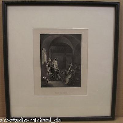 Kupferstich nach einem Gemälde von Franz van Mieris, Payne, Dresdner Galerie