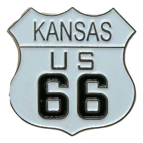 Kansas US Route 66 Hat Tac or Lapel Pin