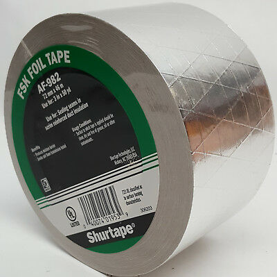 New Roll Of Shurtape Af-982 Fsk Seam Sealing Tape 3 In. X 50 Yds 72mm X 46m