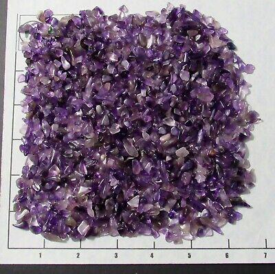 AMETHYST PURPLE CHIPS 'A' 5-10mm semi-tumbled 1/2 lb bulk stones quartz