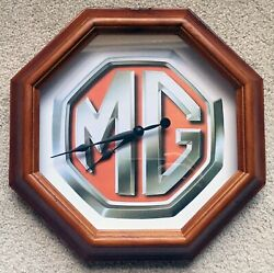 MG Logo Wall Clock, 10 Octagon - Garage, Shop, Den, Office, Man Cave