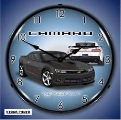 Camaro Collectable Backlit Lighted Wall LED 14 Wall Clock  Ashen Grey