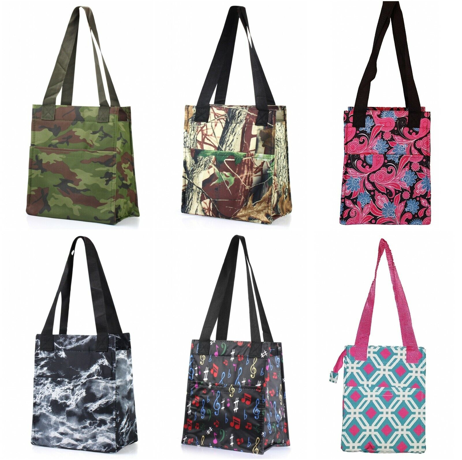 nylon insulated lunch tote bag thermal cooler