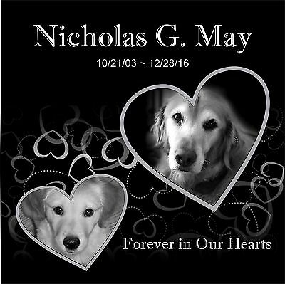 Human grave marker Stone Memorial temporary marker Dog Cat Horse  12x12 32044